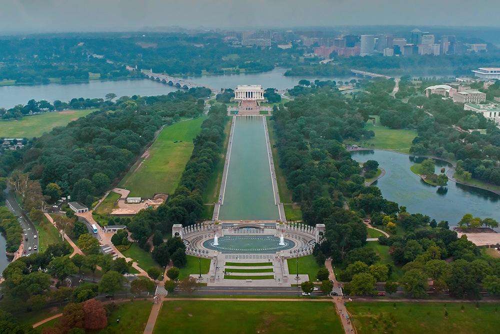 West of the Washington Monument