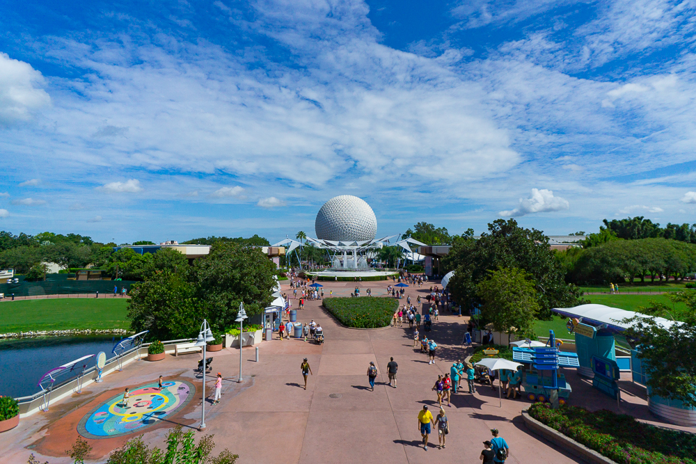View from the Epcot monorail