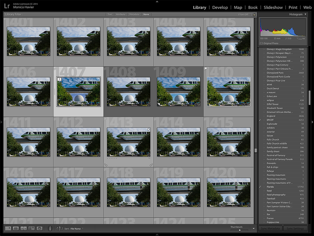 Lightroom screen capture