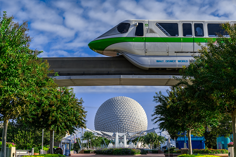 the Monorail in Epcot